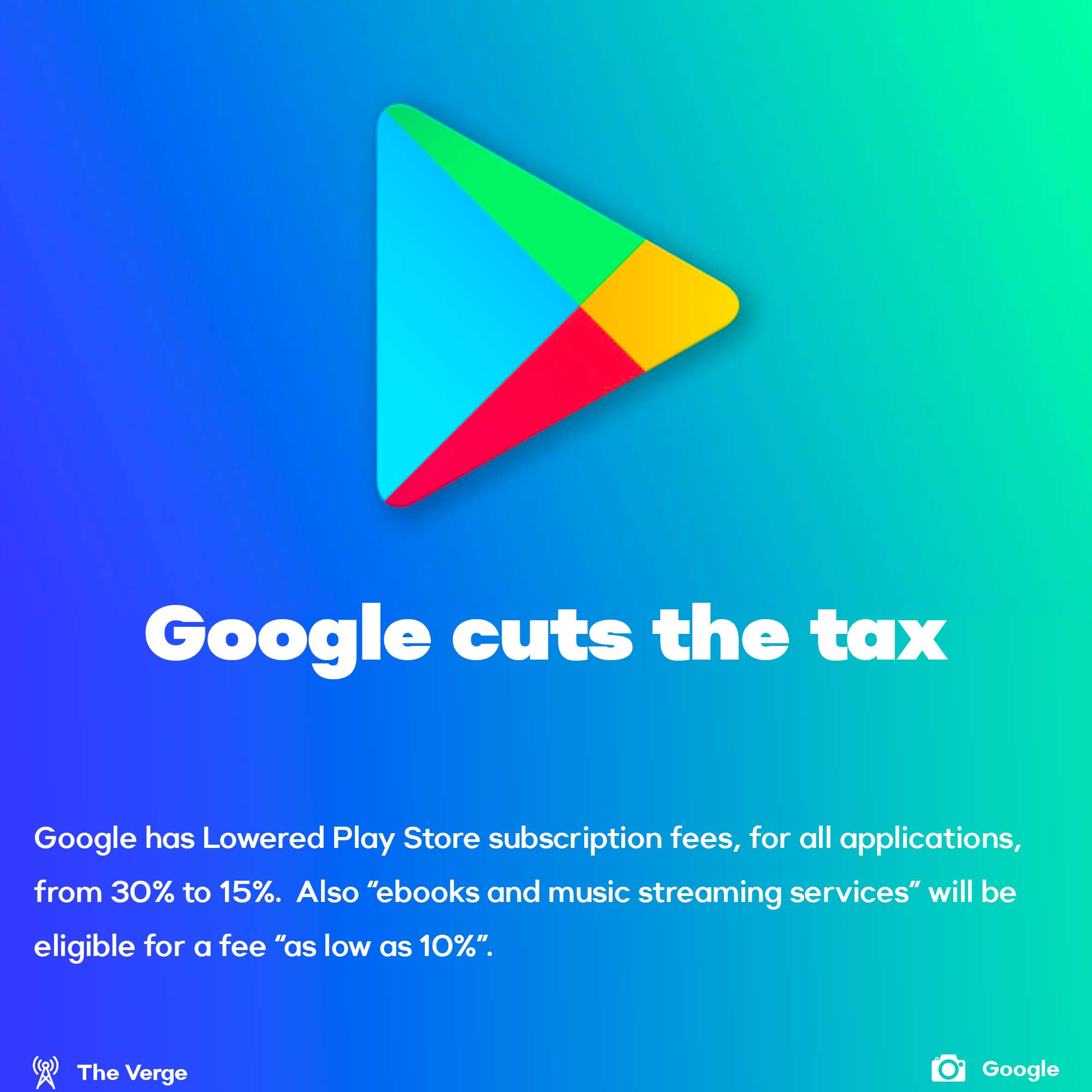 Google changes Play Store fees
