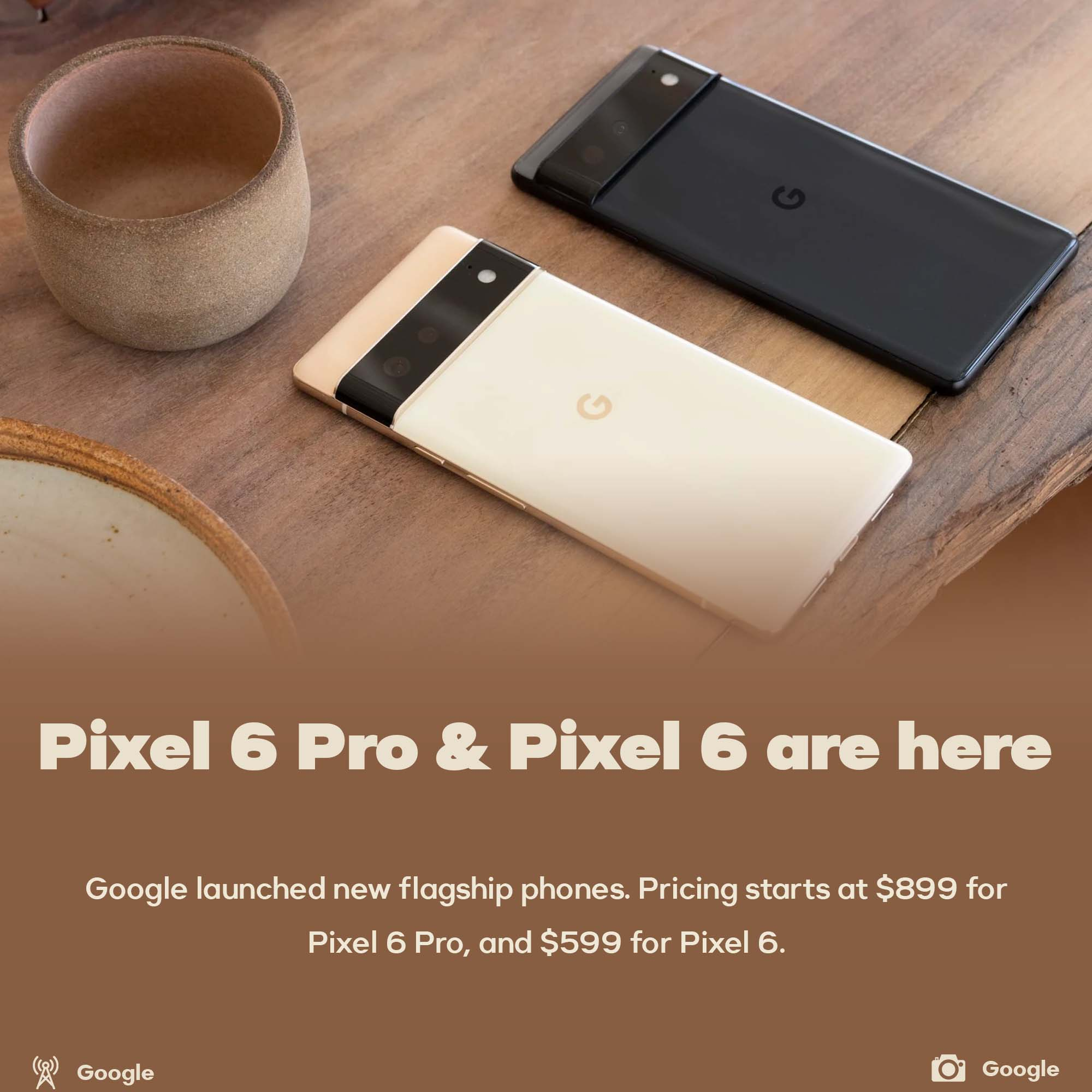 Pixel 6 and Pixel 6 Pro released